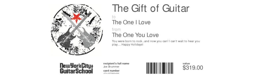 Online e card printable pdf or paper card new york city guitar