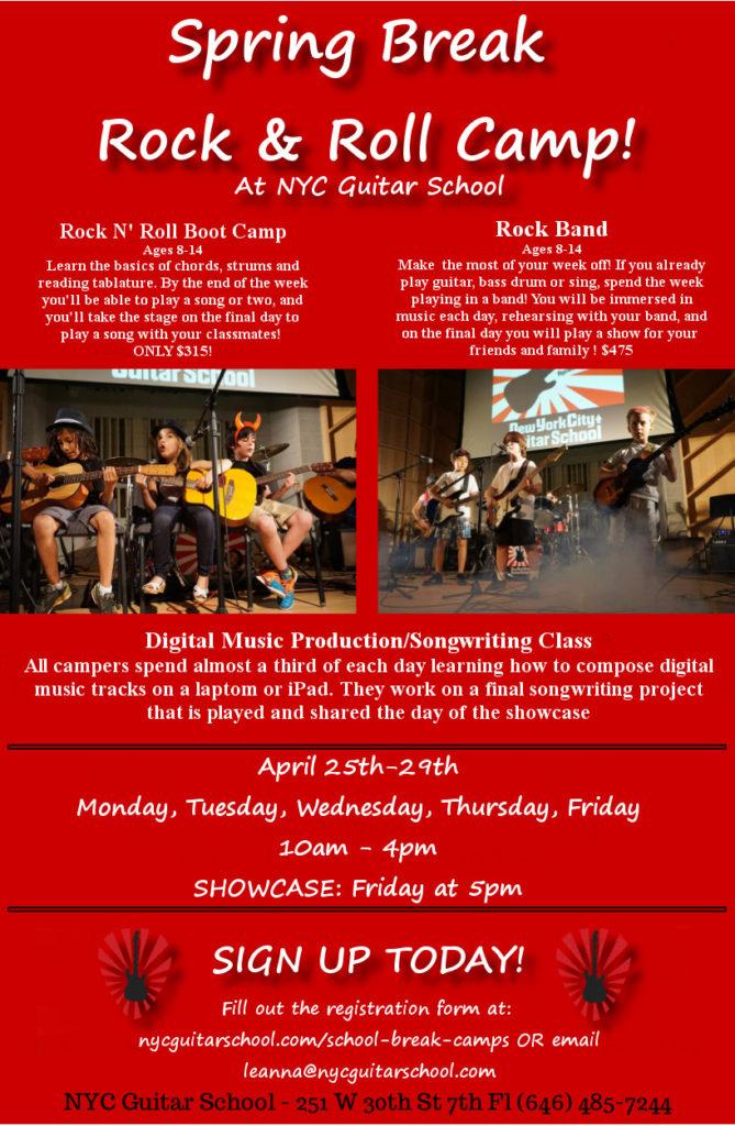 New York City Guitar School 4 ROCKIN\' Spring Break Performances ...